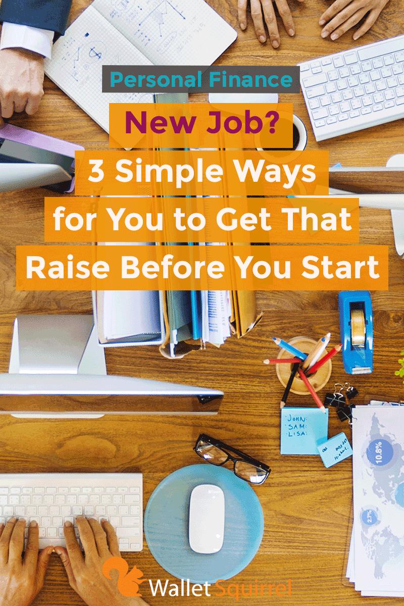 personal finance get a raise before you start a new job