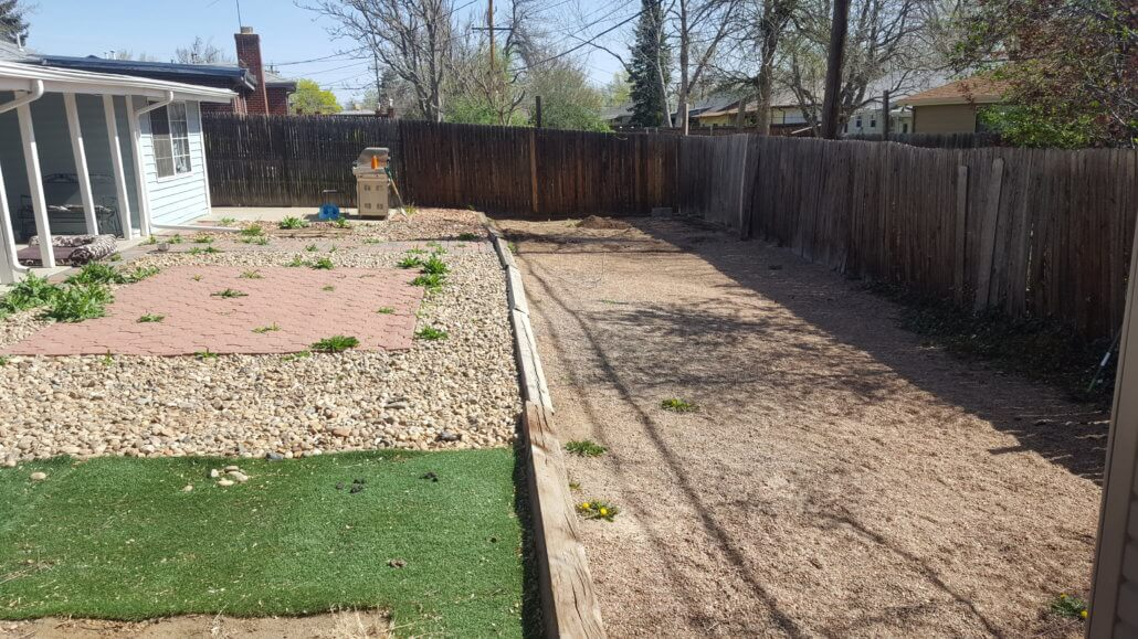 The main backyard before the home remodel