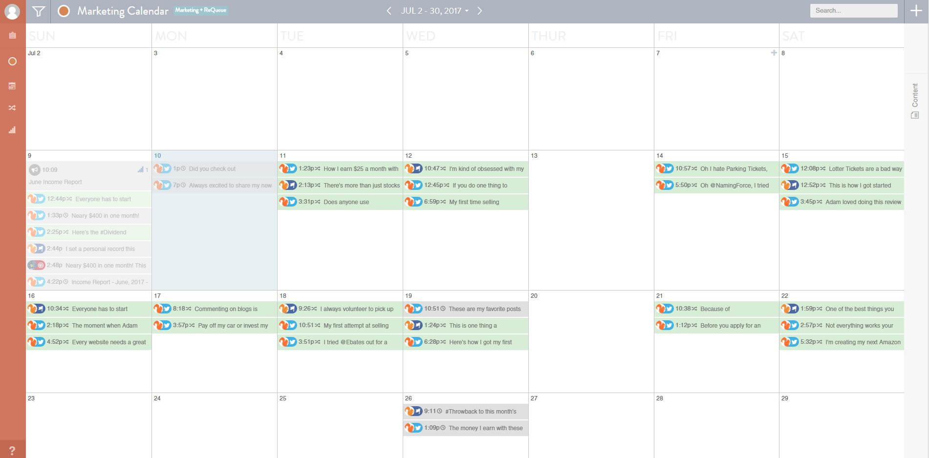 CoSchedule Review Social Media Calendar