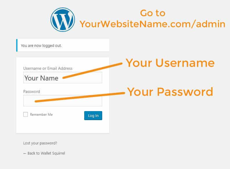 How To Start A Blog Wordpress Login