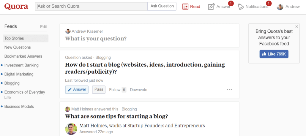web marketing with Quora to increase website traffic