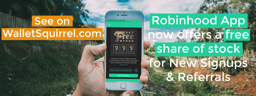 Robinhood App Review - Notice Free Share of Stock On Sign-Up