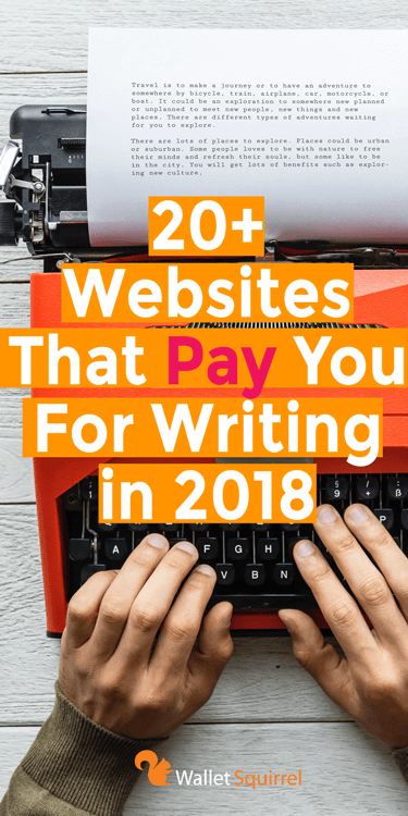 Write articles and get paid