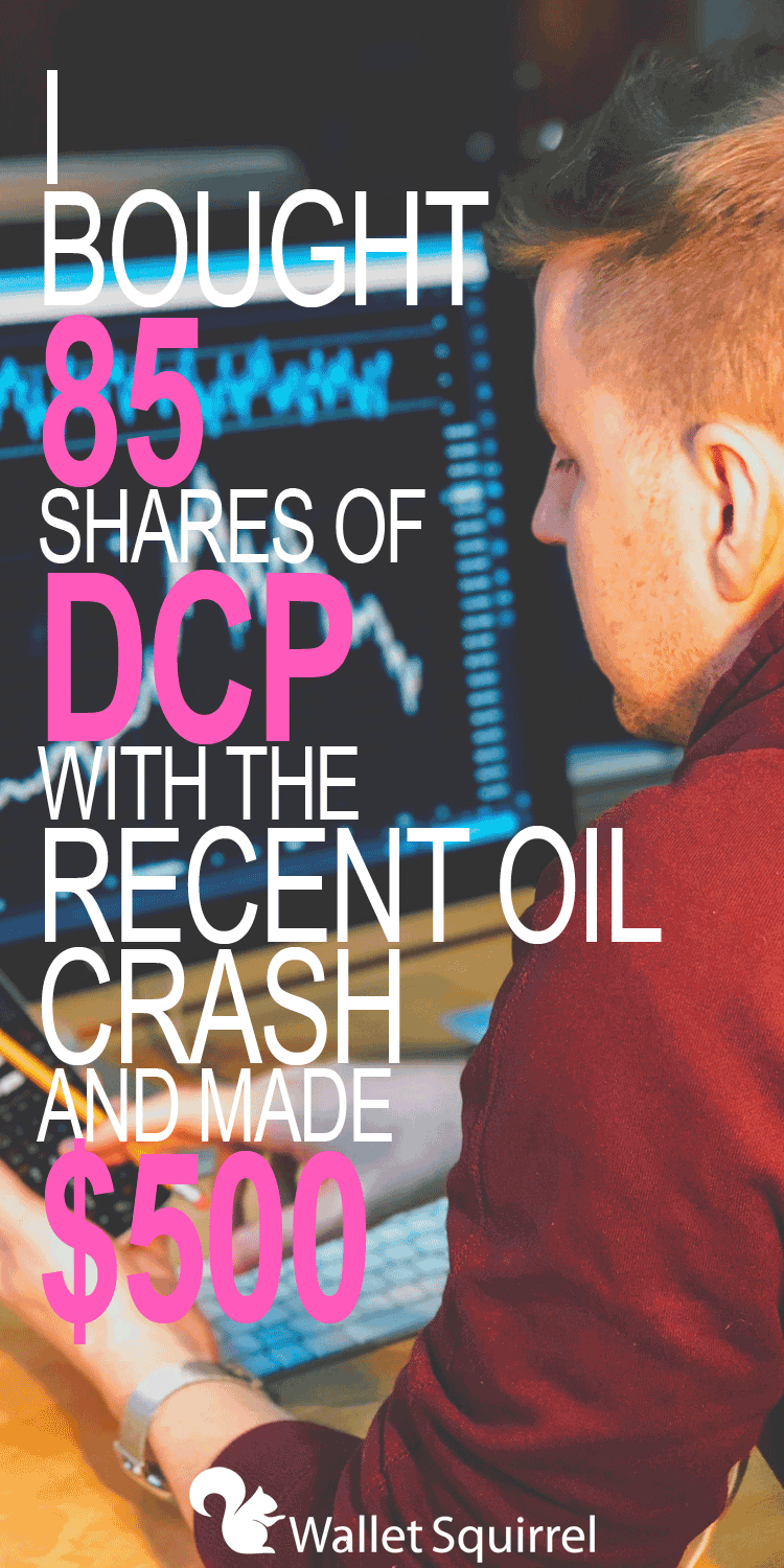 After the recent oil crash, Andrew bought 85 more shares of DCP stock. He has made over $500 since this purchase. Check out what made him take this risk. #stockmarket #personalfinance #investing #investingtips