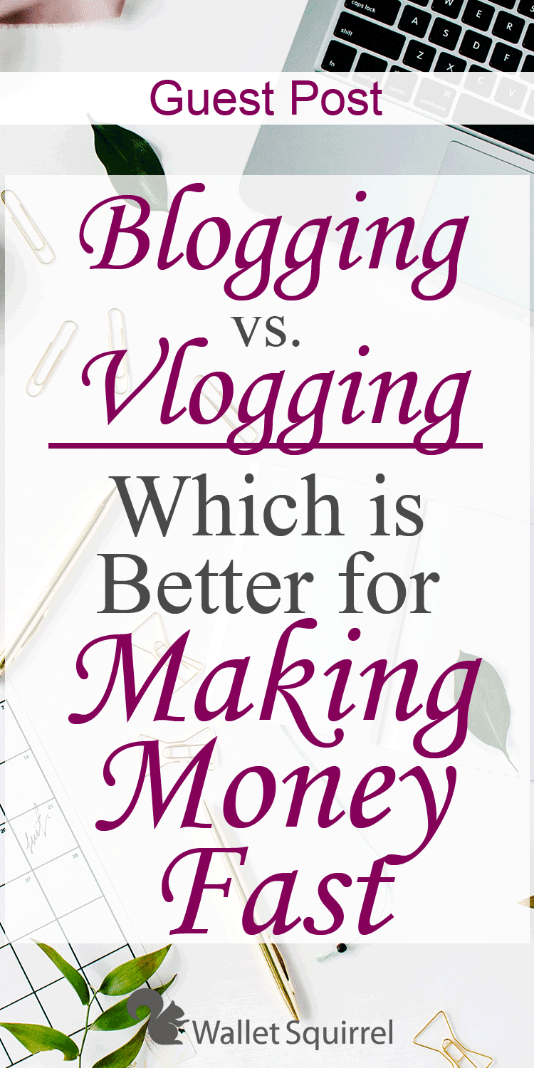Blogging or Vlogging. Which is better? Today's guest post walks us through which is better. Come see which is better for you. #blogging #vlogging #sidehustle