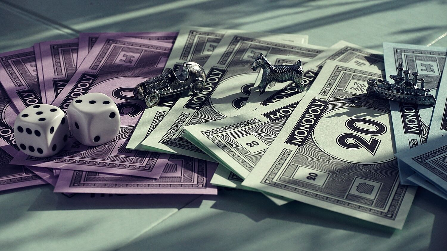 Facts about money with monopoly money.