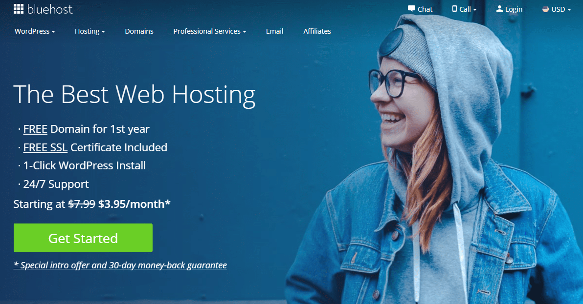 Bluehost Homepage 2020.9.18