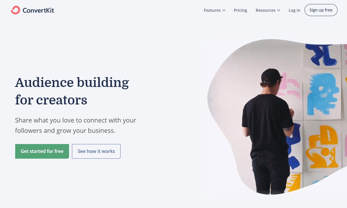 ConvertKit Homepage 2020.9.18