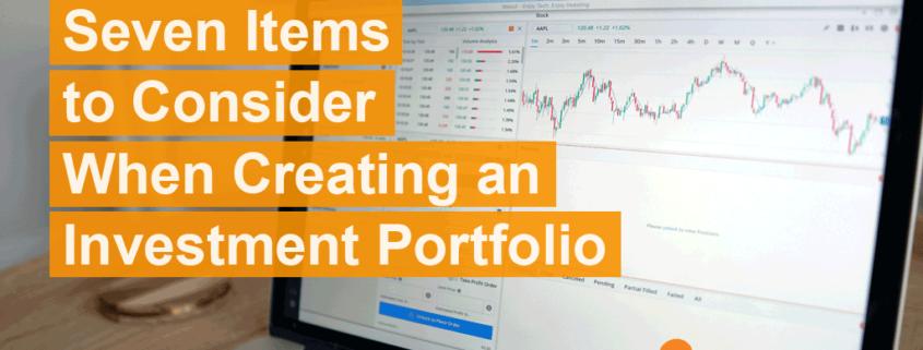Creating an Investment Portfolio